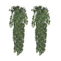 Rocambolesk - Superbe 2 pcs Lierre artificiel Vert 90 cm Neuf