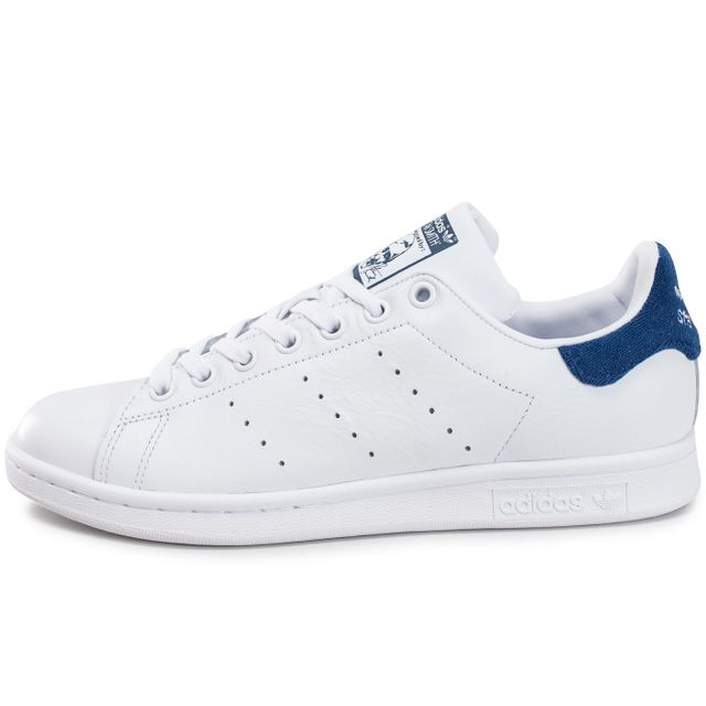 Adidas originals - Stan Smith Blanche Et Bleu Marine - pas ...