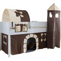 tour de lit beige et marron achat tour de lit beige et marron pas cher rue du commerce. Black Bedroom Furniture Sets. Home Design Ideas