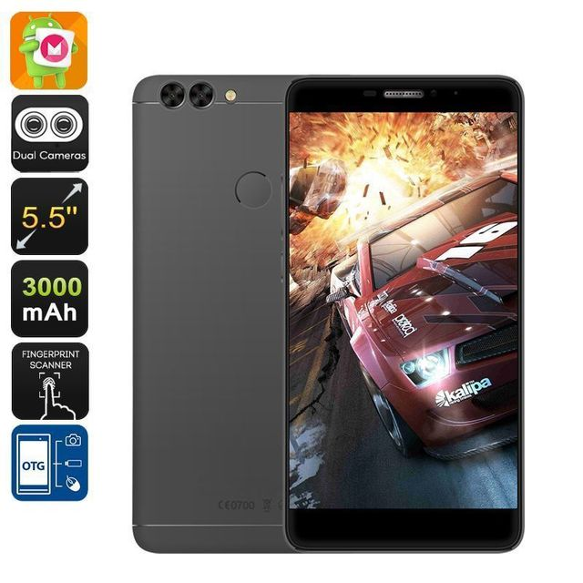 Yonis Smartphone 4G Double Sim Android 6.0 Dual Caméra Fhd 5.5 Pouces 16Go