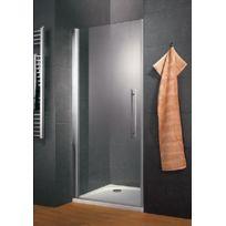 SCHULTE - Porte de douche pivotante, 100 x 190 cm, paroi de douche pivotante, verre transparent anticalcaire, profilé aspect chromé, Style