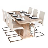 table avec pied central salle manger - Achat table avec pied central ...