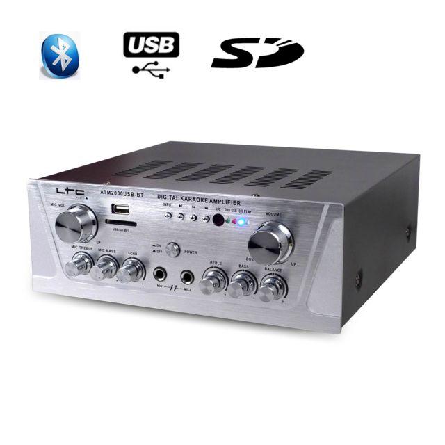 Ltc Audio Amplificateur stéréo Ltc 2X50W avec Karaoke, Usb/MP3/SD/BLUETOOTH