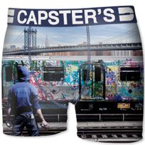 Capster'S Official - Boxer Homme Microfibre Tag Multicolore