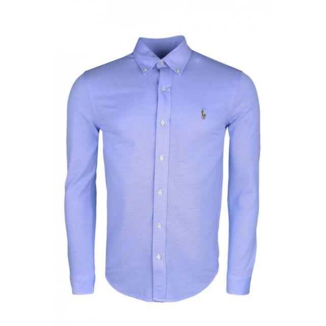 Ralph Lauren - Chemise polo bleue en coton piqué pour homme - pas cher  Achat   Vente Chemise homme - RueDuCommerce 4d7c4b0f516