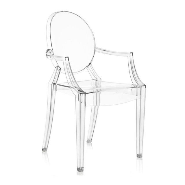 Novara Mobili - Chaise Louis Ghost Style Clear Transparent