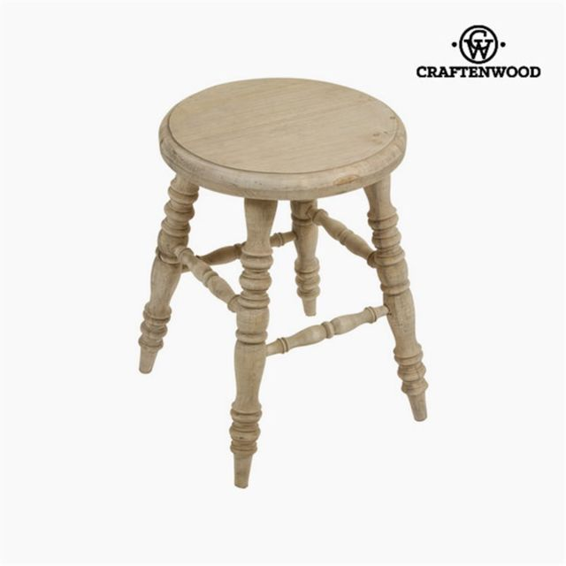 Craftenwood Tabouret en bois mirelle by