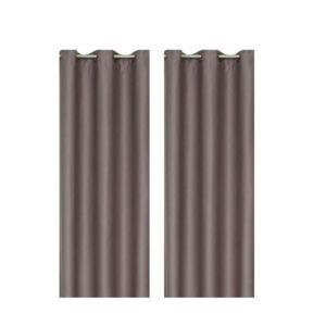 paire de rideaux occultants taupe 140x260cm pas cher achat vente rueducommerce. Black Bedroom Furniture Sets. Home Design Ideas