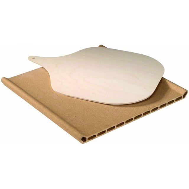 Whirlpool Pierre à pizza en terre cuite 34 cm x 34.5 cm x3 cm pour four
