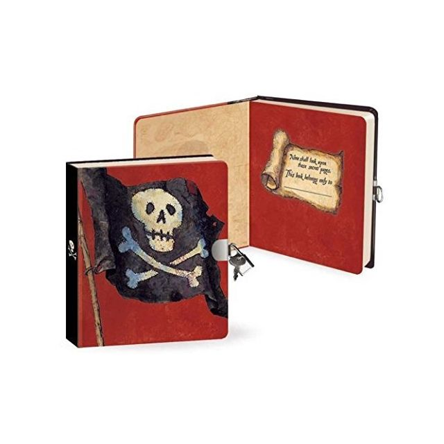 Peaceable Kingdom Pirates 625 Lock and Key Lined Page Diary for Kids