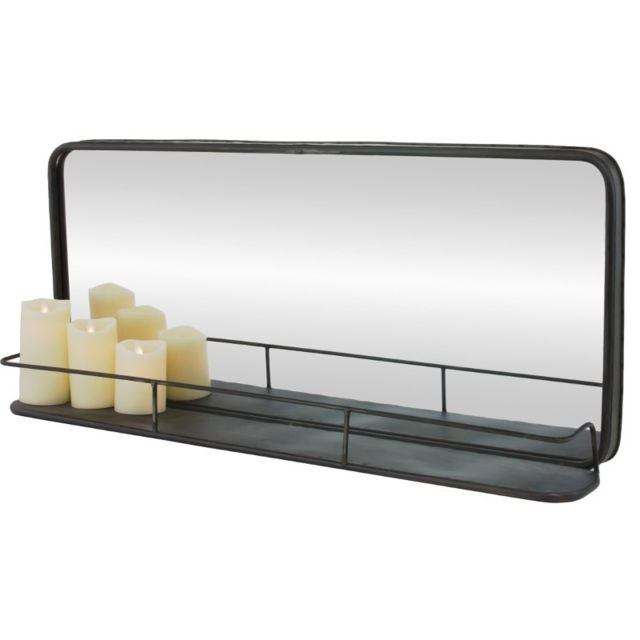 Chemin De Campagne Miroir Tablette Étagère Industriel Long en Fer Métal 91 cm