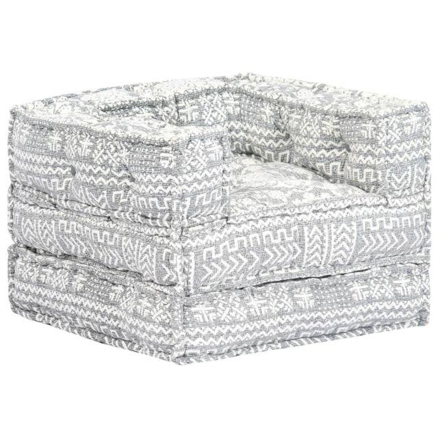 sublime Meubles ensemble Riyad Chaise-canapé modulaire Gris Tissu