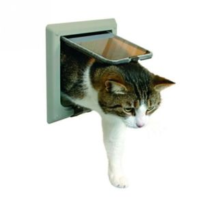 Awox   Trixie Chatiere, 4 Positions Avec Tunnel Pour Chat Gris