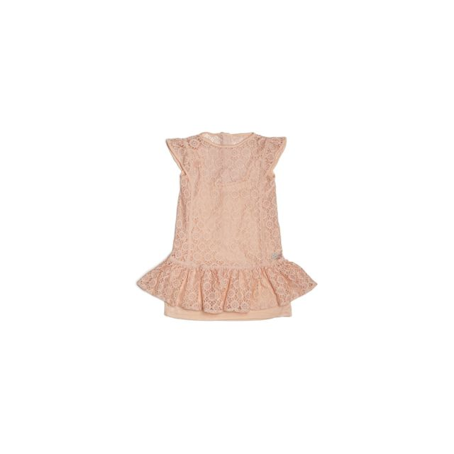 33318cf252eed Guess - Robe Dentelle Volants Rose K81K26 - Taille - 4 ans - pas cher Achat    Vente Robe enfant - RueDuCommerce