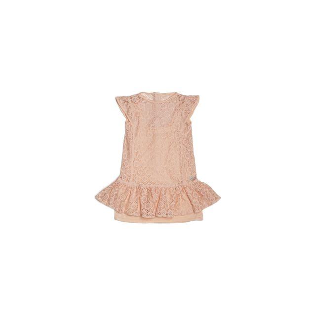 20627d9ed4649 Guess - Robe Dentelle Volants Rose K81K26 - Taille - 4 ans - pas cher Achat    Vente Robe enfant - RueDuCommerce
