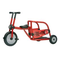Italtrike - tricycle 4/8ans pompier rouge