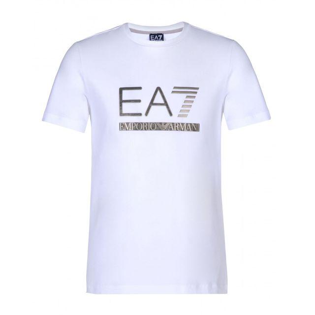 69b3ee33d6b Armani Ea7 - Tee-shirt Ea7 Emporio Armani - 6XPTA5-PJ18Z-1100 - pas cher  Achat   Vente Tee shirt homme - RueDuCommerce