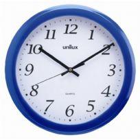 """Unilux - horloge murale """"Rainbow"""", en plastique, couleur: bleu"""
