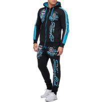 Violento - Survêtement sportswear homme Survêtement 701 noir et Turquoise