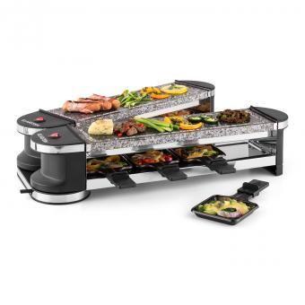 KLARSTEIN Tenderloin 100 Raclette-grill 1200W 8 personnes 2x plaques en pierre naturelle