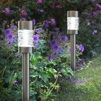 Smart Garden - Lot de 4 balises solaires Led hauteur 56cm 5 Lumens Martello