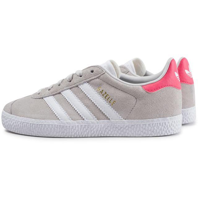 gazelle adidas grise et rose