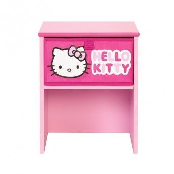 hello kitty table de chevet fille rose pas cher achat. Black Bedroom Furniture Sets. Home Design Ideas