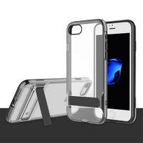 Rock - Coque Royce Series Clear Stand transparent iPhone 7 contour noir