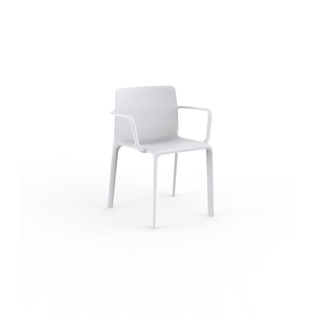 Chaise avec accoudoirs Kes blanc