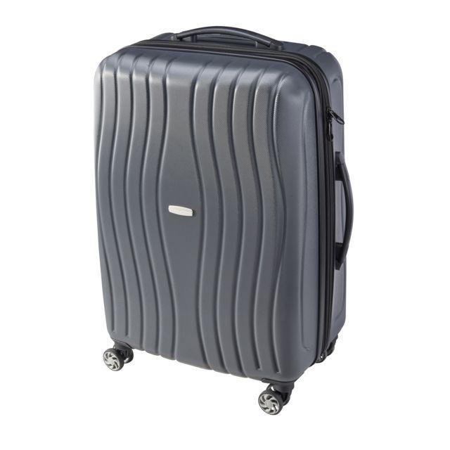 valise carrefour 4 roues CARREFOUR - Valise rigide extensible ABS 4 roues - 69 cm - Gris