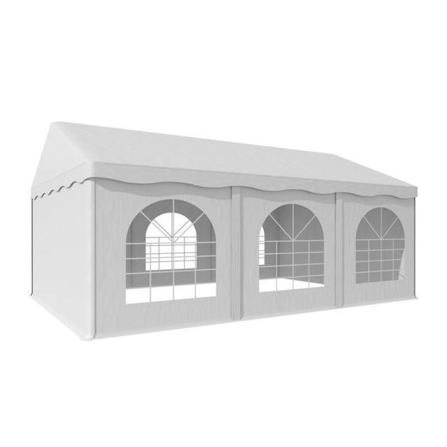 BLUMFELDT Sommerfest 4x6m 500 g/m² Chapiteau tente PVC étanche réfractaire