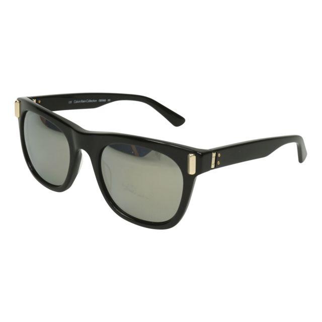 643c9e385f0308 Calvin Klein - Ck-8506-S 001 Noir brillant - Or - Lunettes de soleil - pas  cher Achat   Vente Lunettes Tendance - RueDuCommerce