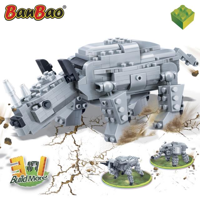 Rocambolesk Superbe Rhinocéros antique BanBao 6851 neuf