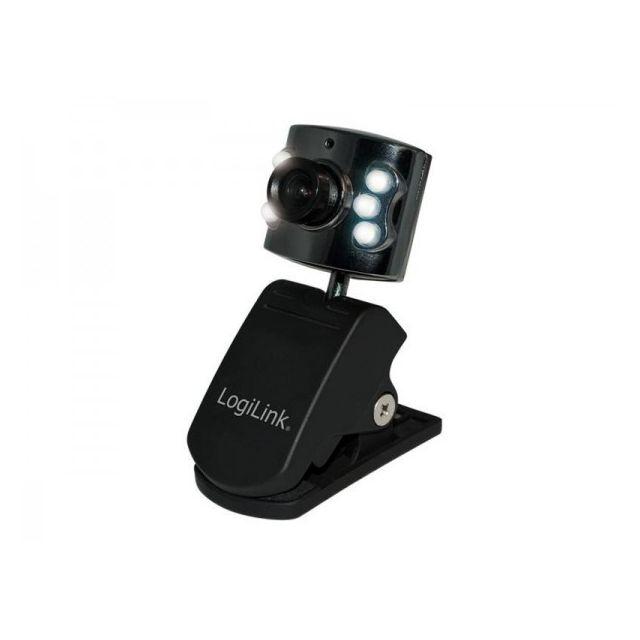 Alpexe Webcam Usb 2.0 LogiLink noir avec 6 Led UA0072 La webcam LogiLink est équipée d´un capteur Cmos de 300k max et a une résolution pouvant aller jusqu'à 640x480 pixels.Grâce à son système de fixation intelligent.cette webcam se fixe facilement sur vot
