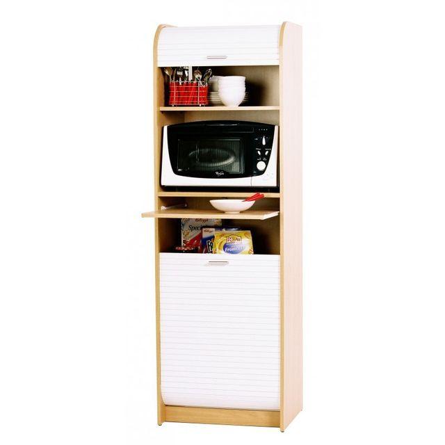 Meuble Micro Onde Cuisine simmob - grand meuble micro-onde meuble de cuisine - coloris - hêtre