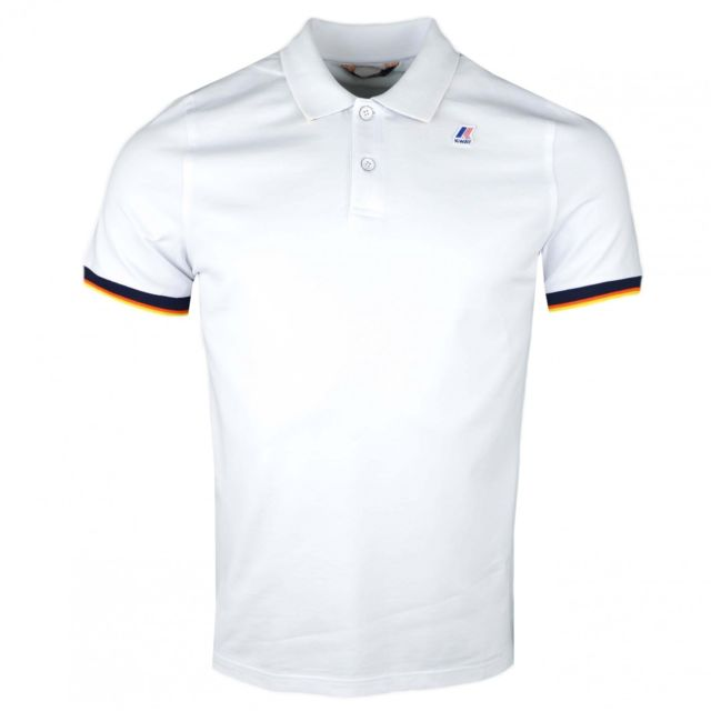 K-way - Polo blanc régular fit pour homme - pas cher Achat   Vente Polo  homme - RueDuCommerce 4a29a94173a