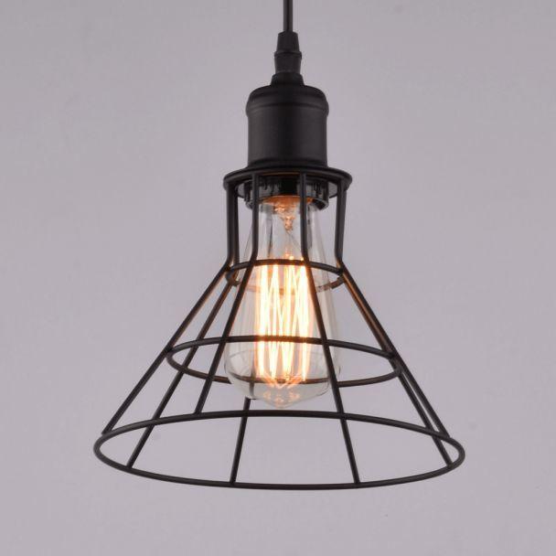 suspension e27 style industriel aver 30 m tal noir 1 x 60. Black Bedroom Furniture Sets. Home Design Ideas