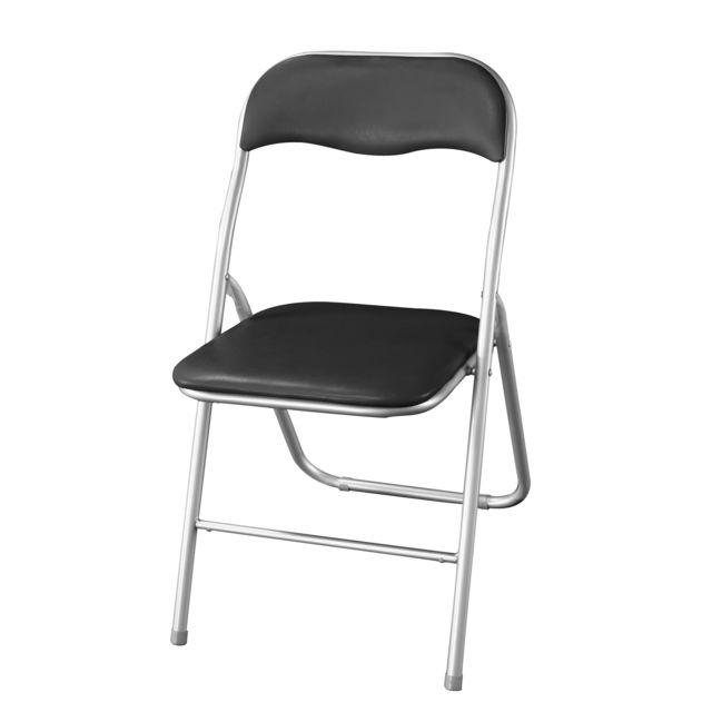 rue du commerce chaise pliante noir pas cher achat vente chaises rueducommerce. Black Bedroom Furniture Sets. Home Design Ideas