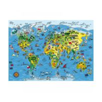 Gallimard - Puzzle 250 pièces : Carte du Monde