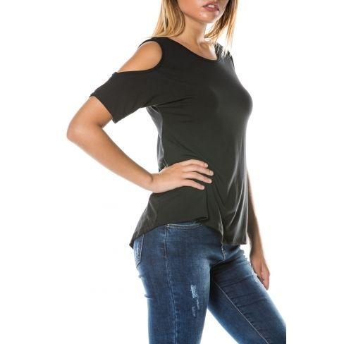 Princesse Boutique - T-shirt Noir dos croisé - pas cher Achat ... 0364b71cb8f