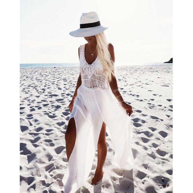 3c83b29e8c4 Monpetitbikini - Ma Robe Tressée blanche - Taille unique - pas cher ...