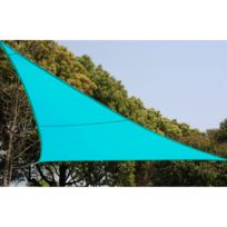 Hespéride - Toile solaire / Voile d'ombrage Curacao - 4 x 4 x 4 m Bleu lagon