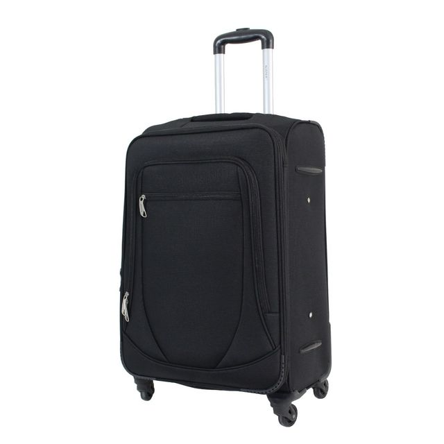 alistair valise moyenne 65cm trolley n obase toile nylon ultra l g re 4 roues noir 3 6. Black Bedroom Furniture Sets. Home Design Ideas