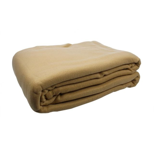 les douces nuits de ma couverture polaire uni 220x240 cm miel pas cher achat vente. Black Bedroom Furniture Sets. Home Design Ideas