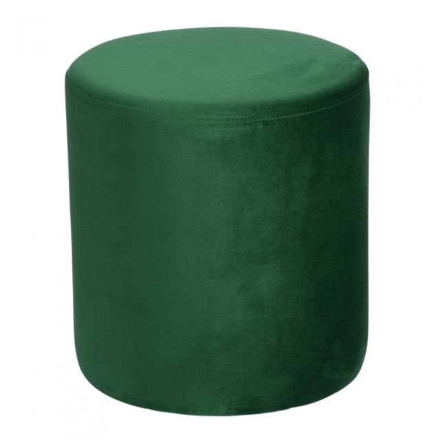TABLE PASSION Pouf Joye Velours 40 cm Vert