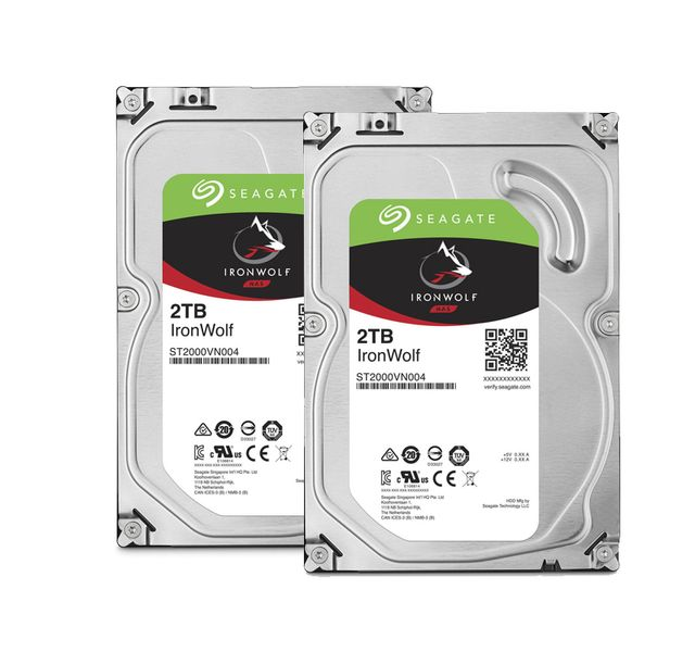 SEAGATE Lot de 2 disques durs interne ironwolf 2 to 3.5