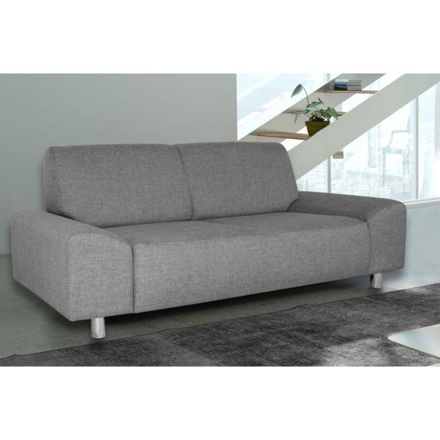 Rocambolesk Canapé Quick 3 savana 21 gris+pieds chrom sofa divan