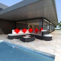 salon de jardin rouge et noir - Achat salon de jardin rouge et noir ...