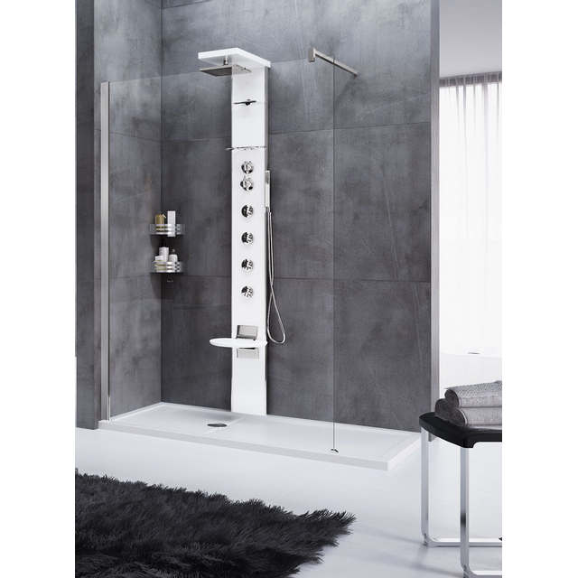 novellini colonne de douche hydromassante thermostatique avec si ge cascata3 209 cm pas cher. Black Bedroom Furniture Sets. Home Design Ideas