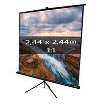 Kimex - Ecran de projection trépied 2,44 x 2,44m, format 1:1